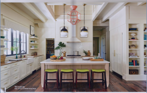 kitchen-cabinets-in-alpharetta-ga-cream-kitchen-blush-island-lime-seat cushions
